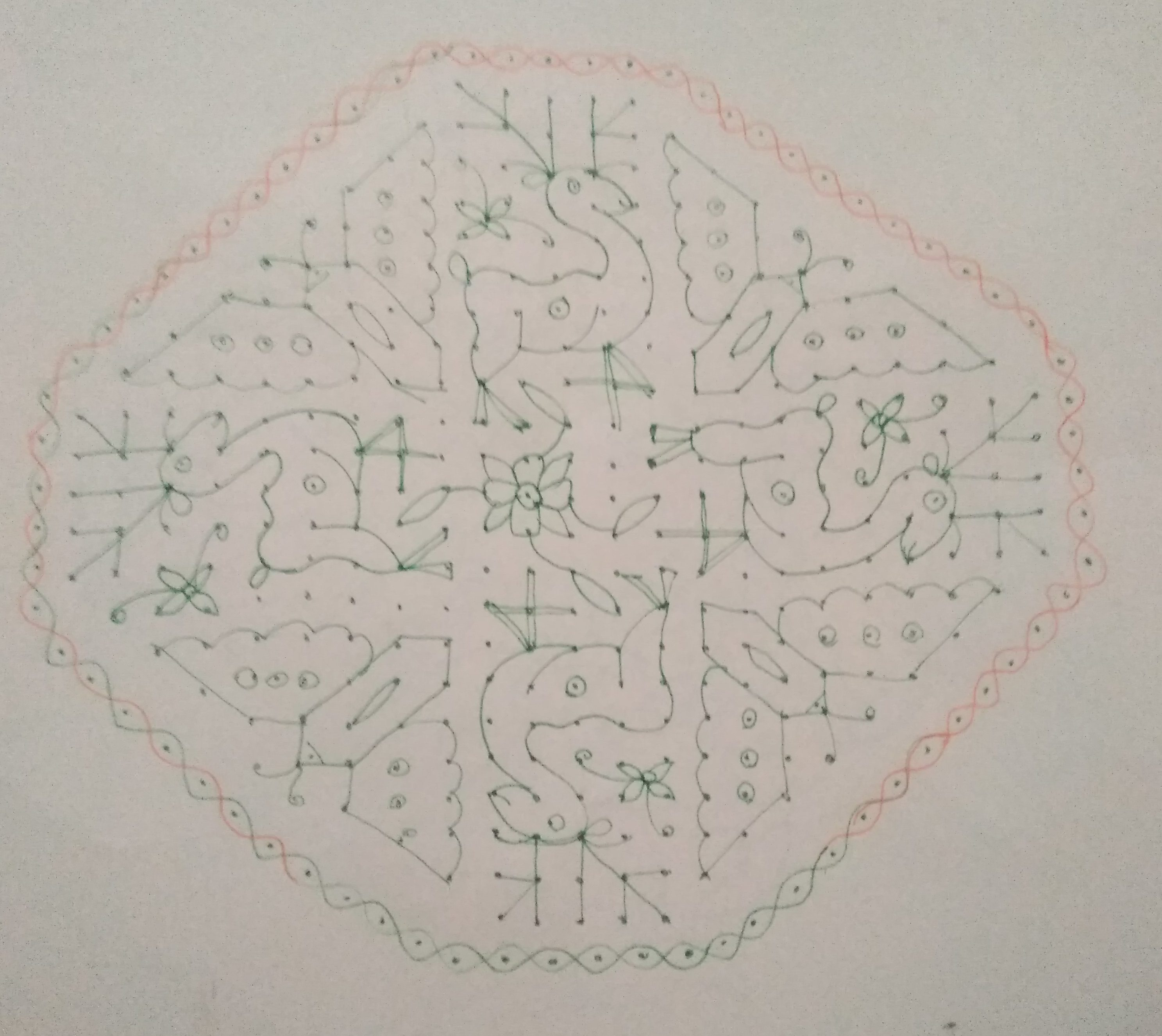 Maan kolam || 25 dots Butterfly kolam for contest