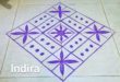 25 dots flower kolam || Square kolam for contest