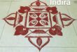 25 dots diya and flower kolam || Contest kolam