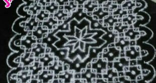 Simple chikku with 25 dots || Contest kolam