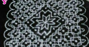 Simple chikku with 25 dots || Contest kolam