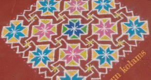 Colourful kolam || 25 dots Contest Kolam
