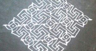 Line kolam with 25 dots || Pinwheel design kolam for contest