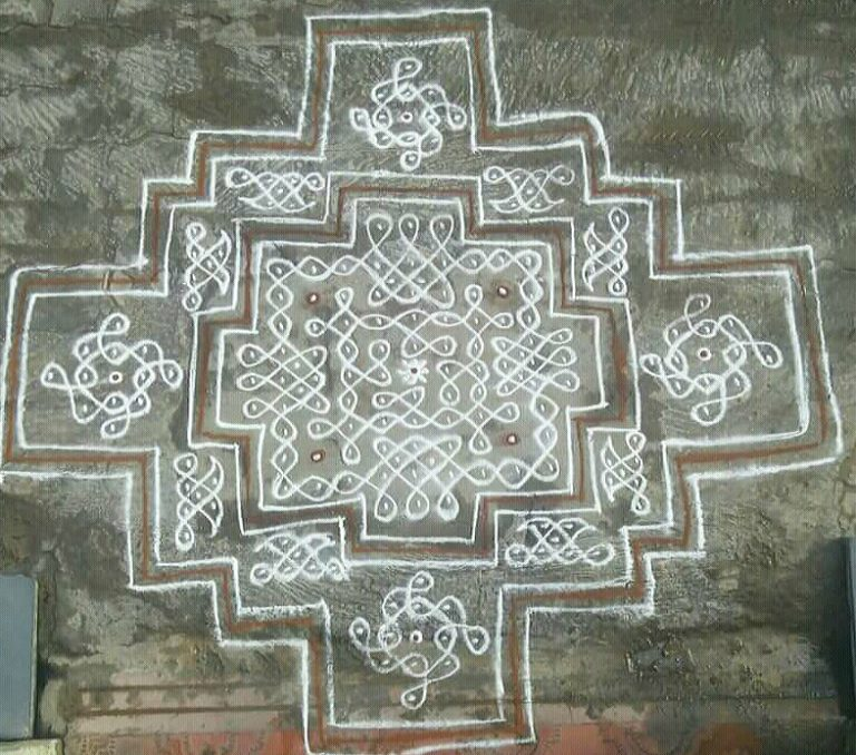 Sikku kolam with 25 dots || contest kolam