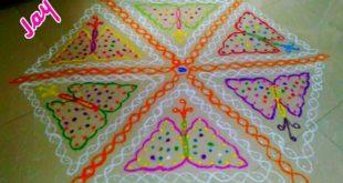 Butterflies caught in chikku || contest Kolam