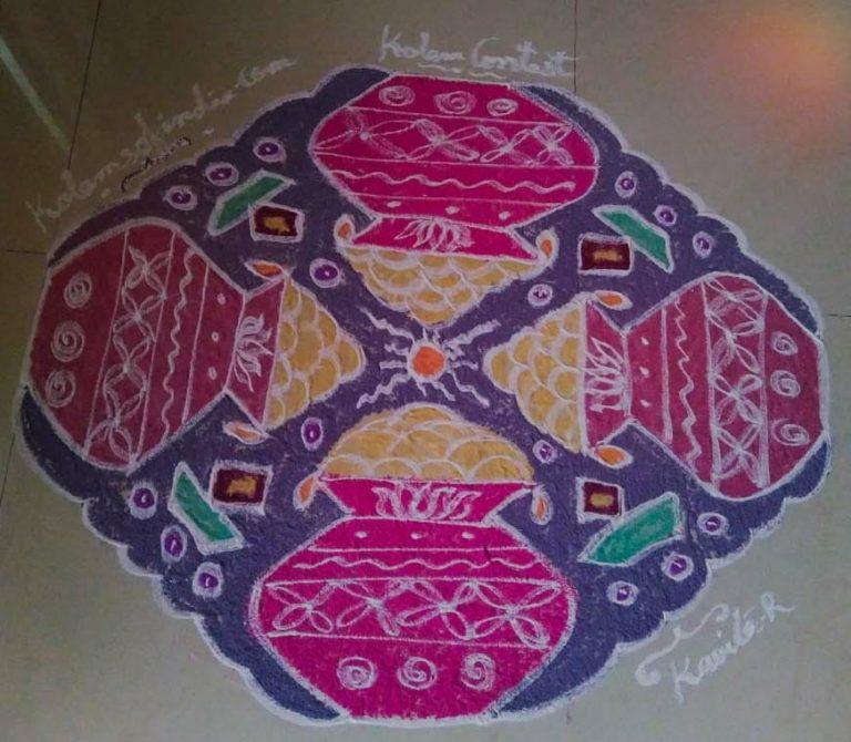 Pongal Kolam || Pongal Paanai Kolam