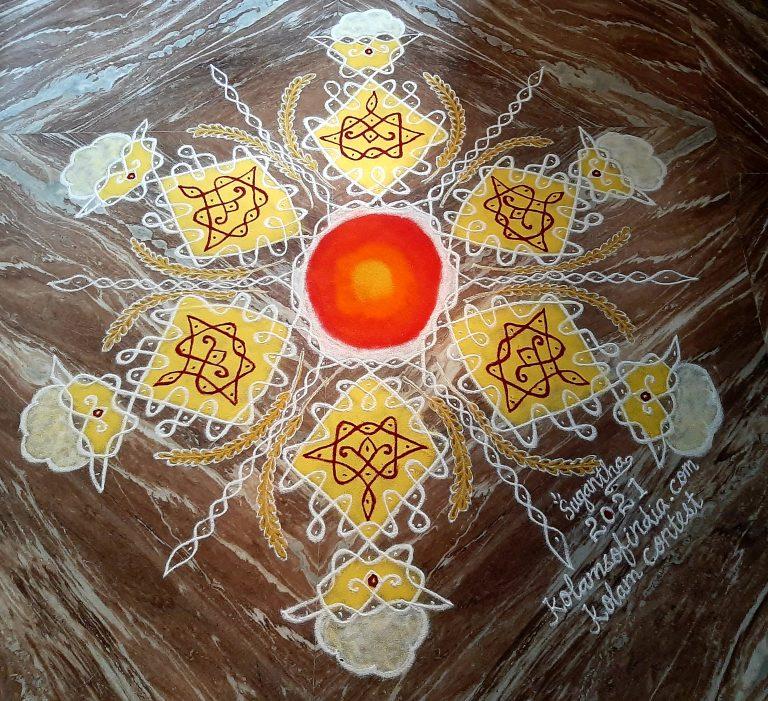 31 Dots Pongal Sikku Kolam || Magara Sankranthi Muggulu