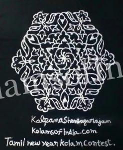 Simple design line kolam - Tamil New Year Contest